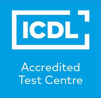 Accredited ICDL Test Centre full colour large size